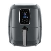 Emerald Gray Air Fryer 5.2 Liter Capacity w/ Digital LED Touch Display & Slide out Pan/Detachable Basket 1800 Watts (1813)