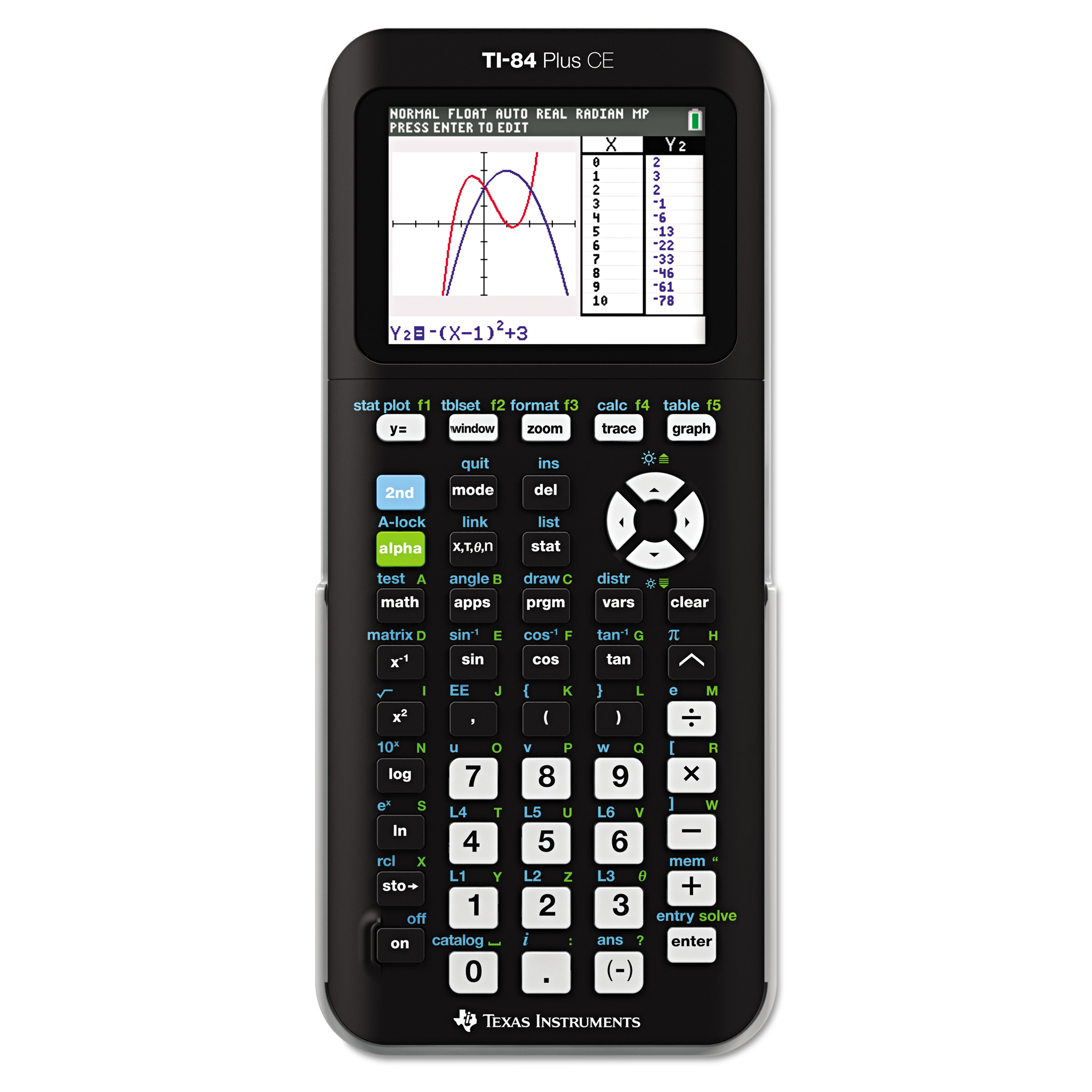 Texas Instruments TI-84 Plus CE Graphing Calculator (Color: Black) by Texas Instruments