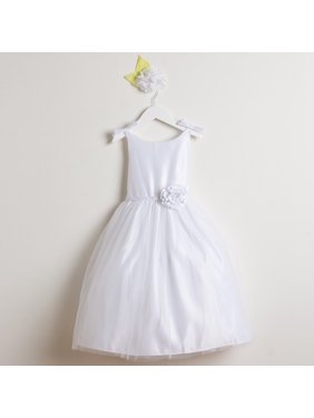 03aaa92eb4e Product Image Sweet Kids Little Girls White Bows Satin Tulle Occasion Easter  Dress 2-6
