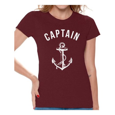 Awkward Styles Captain T Shirt for Ladies Captain Shirt for Women Sea Tshirt for Girls Sea Lovers Gifts Marine Themed Party Cute Gifts for Sailor Captain Clothes for Mom Marine Clothing Collection - Girl Themed Parties