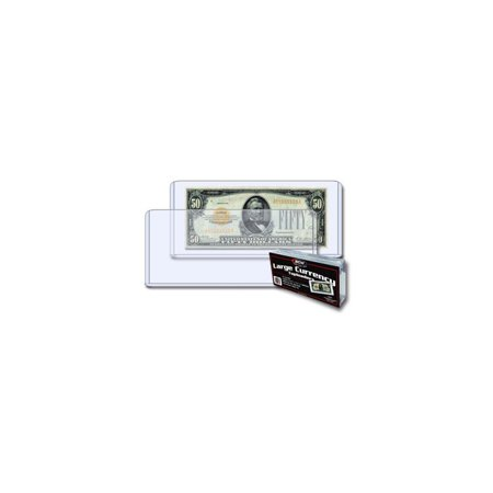 BCW Currency Topload Holder - Large Bill