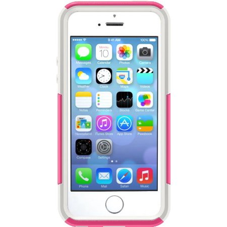 OtterBox COMMUTER SERIES Case for iPhone 5/5s/SE - Retail Packaging - HOT PINK (HOT PINK/WHITE) - image 1 de 1