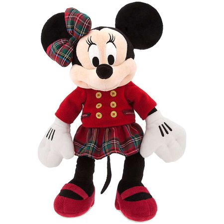 Disney 2017 Holiday Minnie Mouse Plush [Red Top, Plaid Skirt] (Disney Halloween Time 2017)