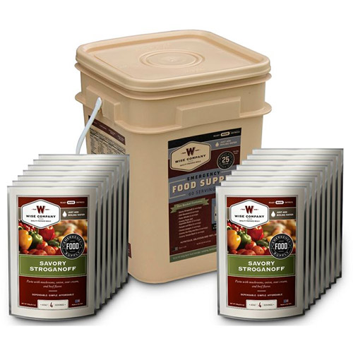 Wise Foods 60 Serving Entree Grab and Go Food Kit