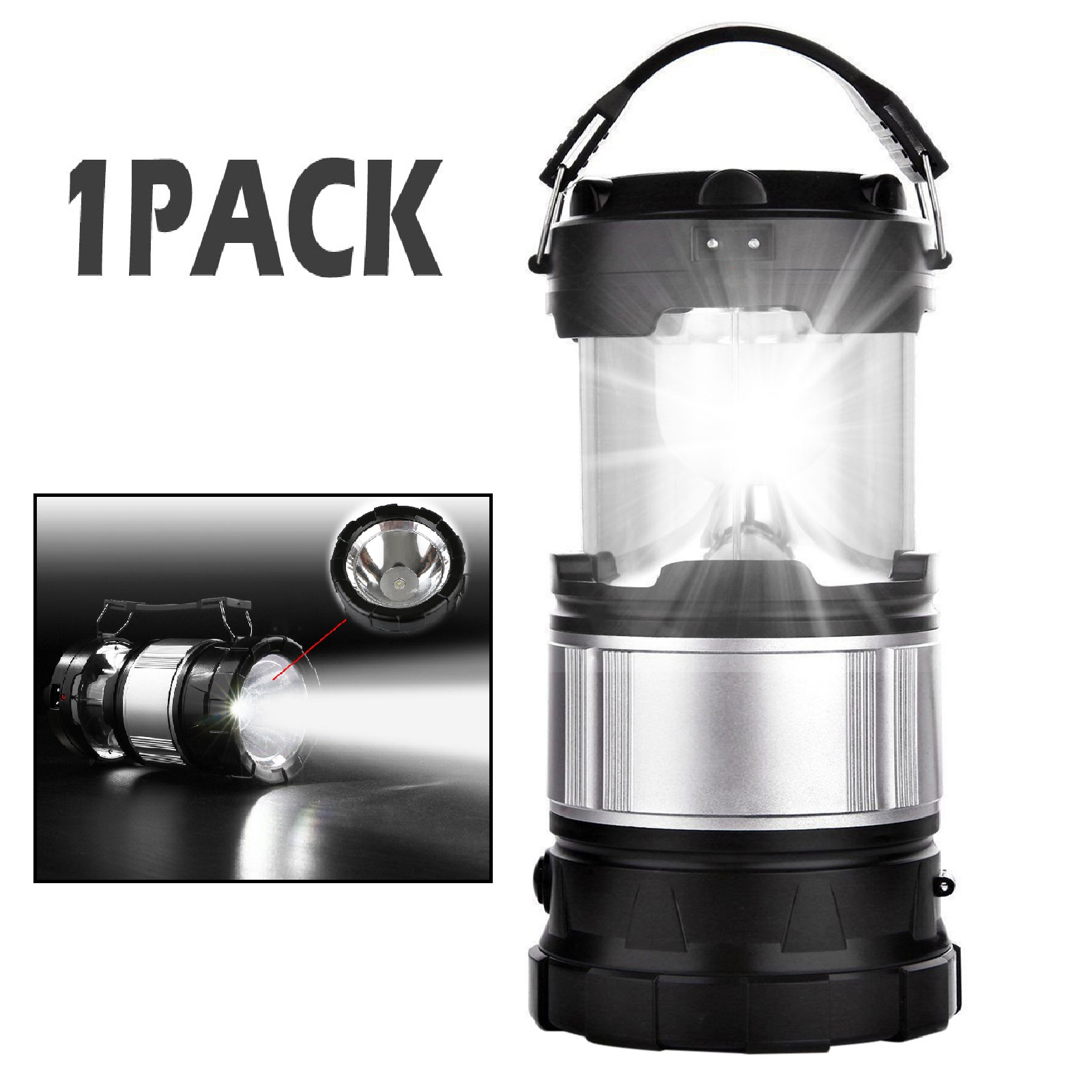 Rechargeable LED Camping Lantern Outdoor Tent Lights Power Bank Phone Charging