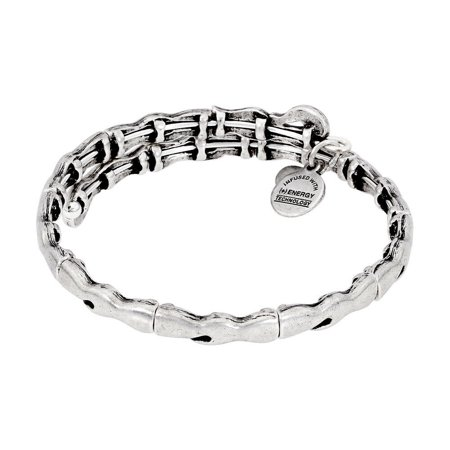 Alex And Ani Water Metal Wrap Rafaelian Silver Finish Bangle V16W29RS Ambers Sterling Silver Bangles