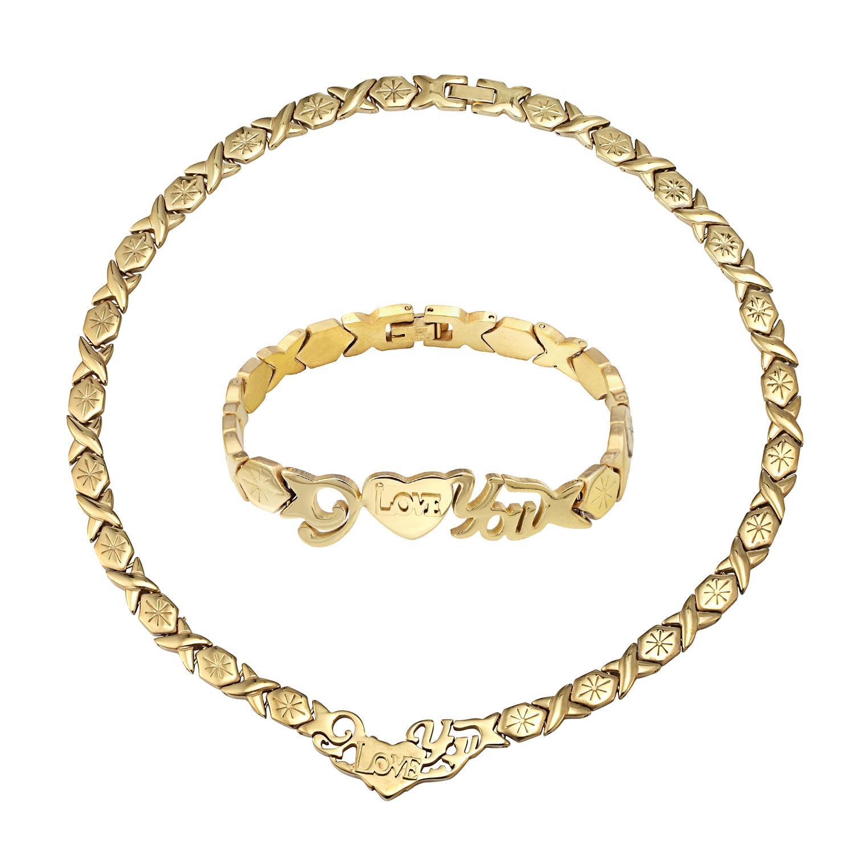 gold xoxo necklace and bracelet set best bracelet 2018