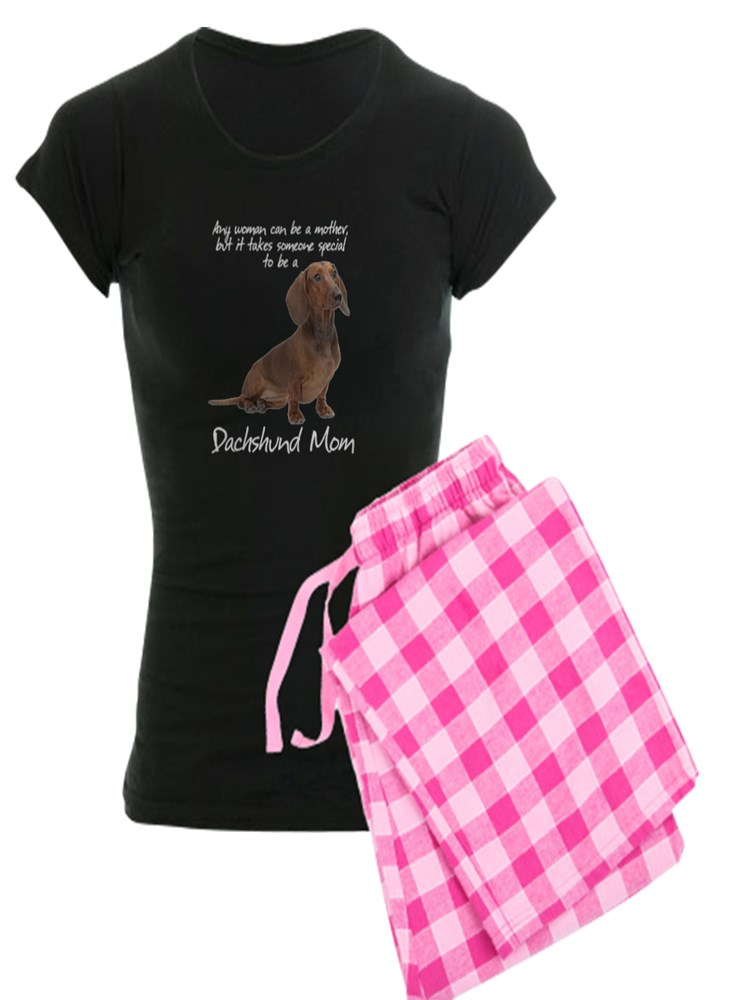 Soft Long Pajama Shirt Cotton PJs//Pyjamas Pink CafePress Dachshund Mom Womens Nightshirt