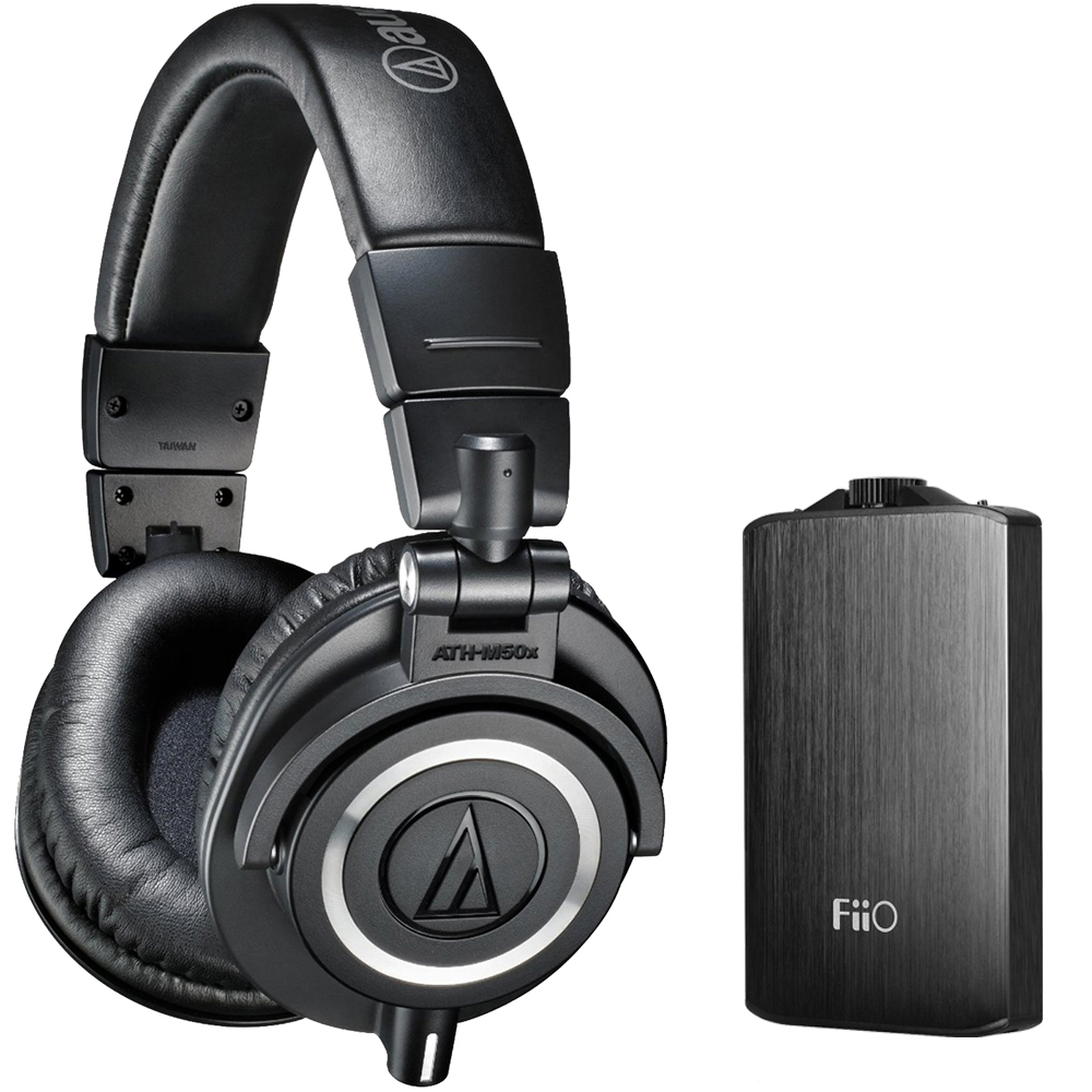 Audio Technica ATH-M50X Professional Studio Headphones (Black) with FiiO A3 Portable... by Audio-Technica