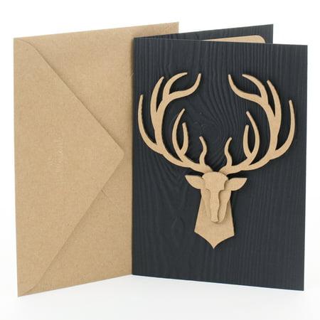 Hallmark Signature Birthday Card (Deer Head)