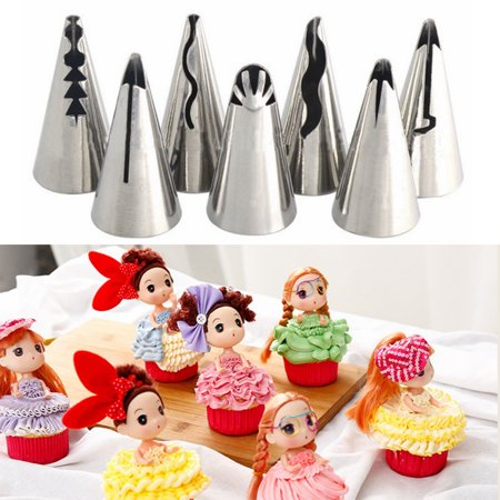 7Pcs Cake Decorating Supplies Piping Tips in Home Stainless Steel Piping  Nozzles Pastry Baking Tool DIY