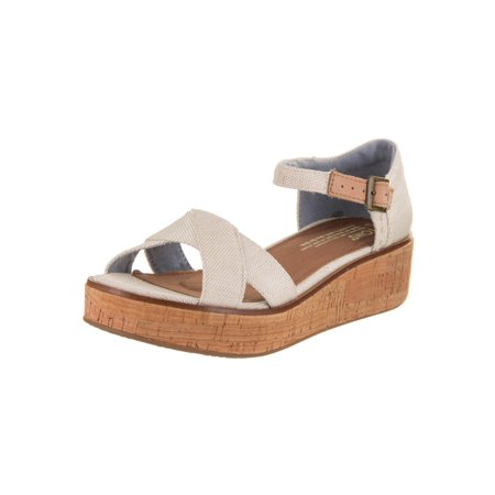 Toms Women's Harper Wedge Sandal - Toms Ivory Wedges