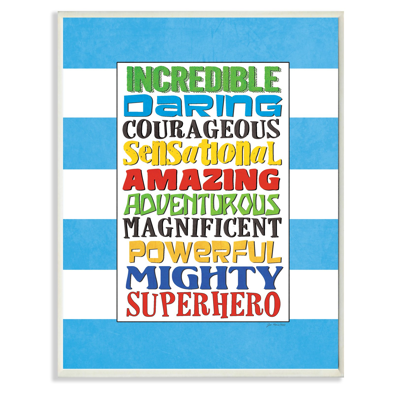 The Stupell Home Decor Collection Superhero Words Wall Plaque