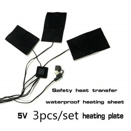 Portable Heating Mat (5V USB Waterproof Heating Sheet, Portable Vest Jacket Clothes Warmer, Carbon Fiber Heating Pad For Mouse Mat, Pet Nest, 3PCS )