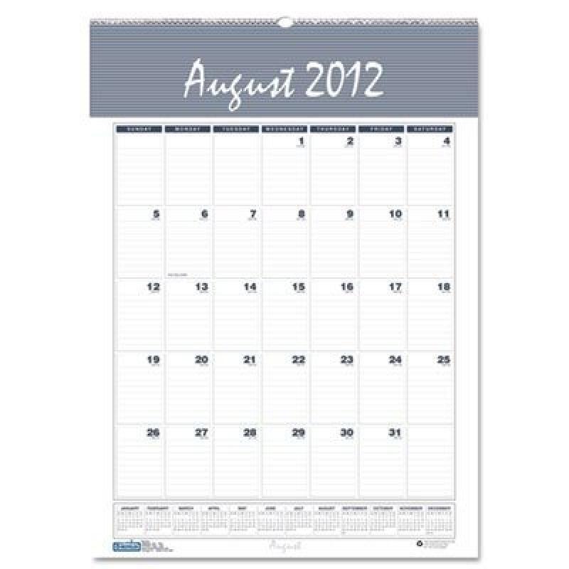 House of Doolittle 353 Bar Harbor Wirebound Monthly Wall Calendar- 15-1/2 x 22