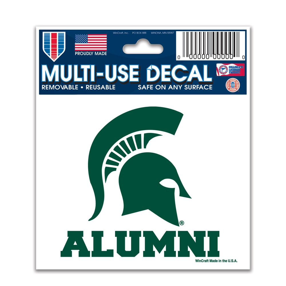 Michigan State Spartans Official NCAA 3 inch x 4 inch  Car Window Cling Decal by Wincraft