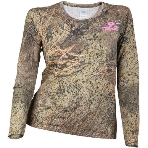 Mossy Oak Women's Camo Long Sleeve Crew Tee by
