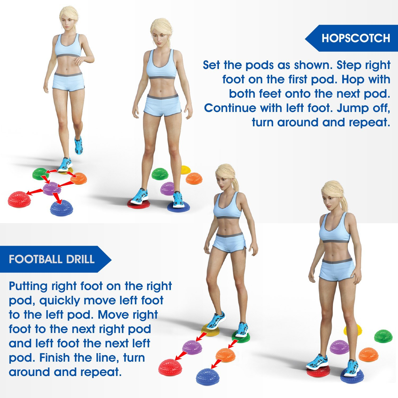 Sensory Stepping Stone for Kids Balance Pods Stepping Hedgehog