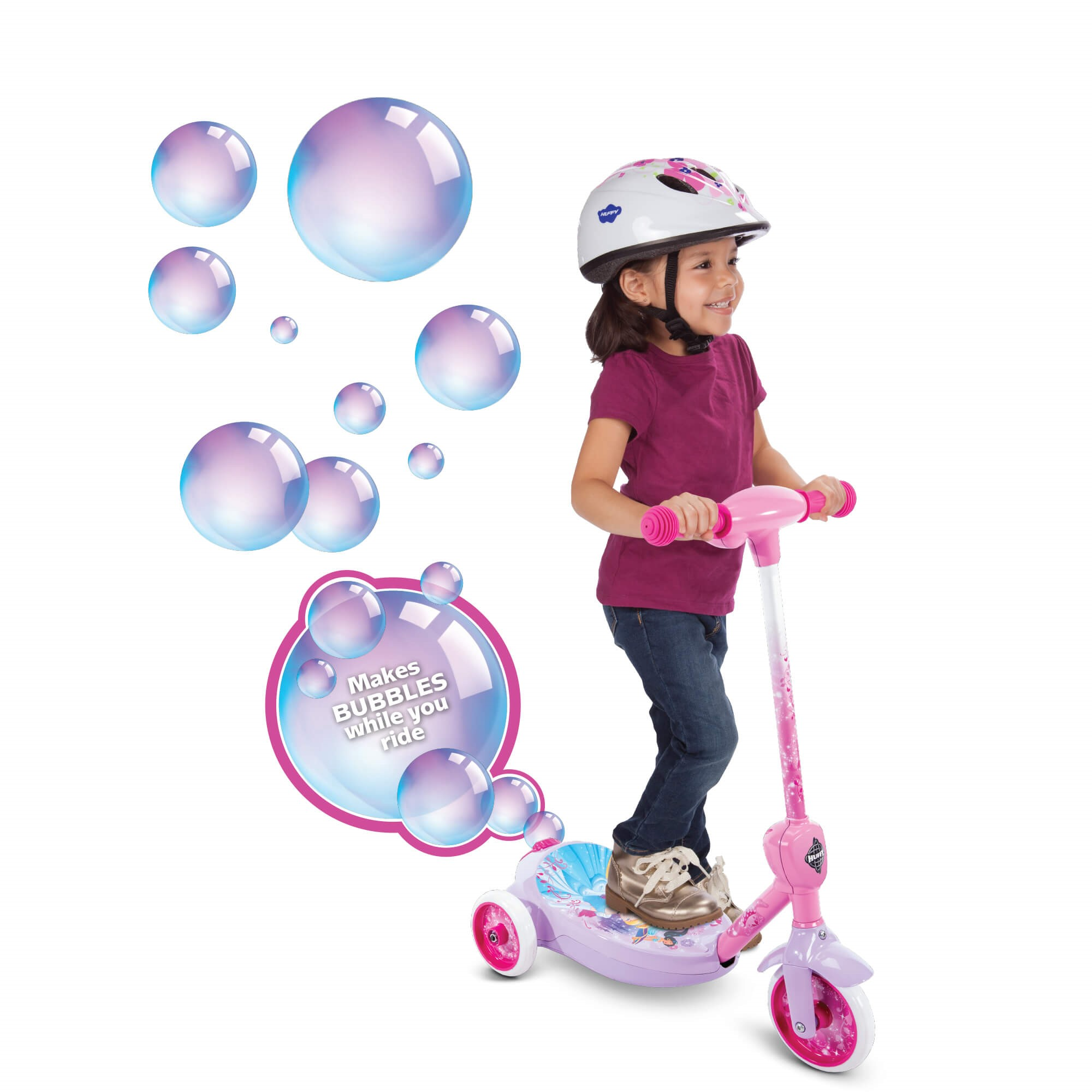 Disney Princess Girls' 6V Electric 3-Wheel Bubble Scooter by Huffy