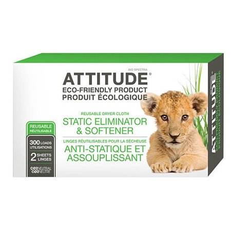 Attitude Static Eliminator Softner Cloth Sheets - 300 Loads, 2 Sheets ()