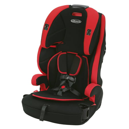 Graco Wayz 3-in-1 Harness Booster Car Seat, Gordon Red Booster Seats Harness