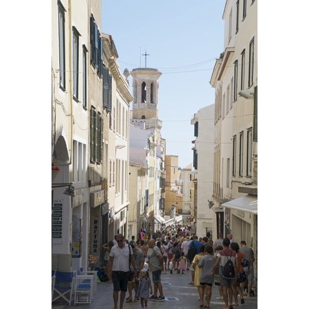 Canvas Print Street City Centre Town Holiday Minorca Stretched Canvas 10 x - Party City Town Center