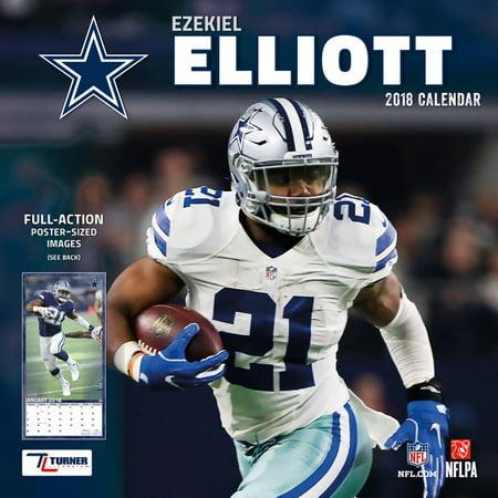 Turner Sports Dallas Cowboys Ezekiel Elliott 2018 12x12 Player Wall