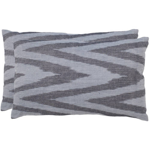 Safavieh Chevron Silver Pillow, Set of 2