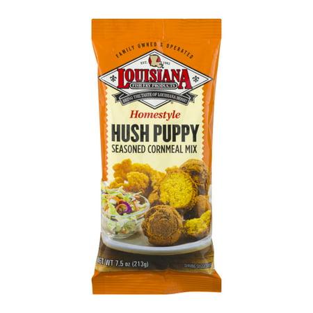 (3 Pack) Louisiana Homestyle Hush Puppy Seasoned Cornmeal Mix, 7.5