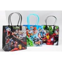 12 Marvel Avengers Party Favor Bags Birthday Candy Treat Favors Gifts Plastic Bolsas De Recuerdo