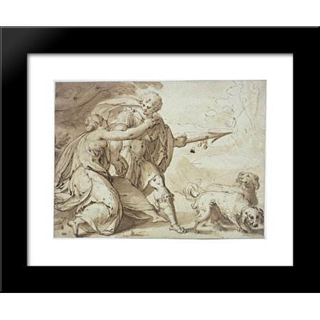 Adonis held back by Venus while going hunting 20x24 Framed Art Print ...