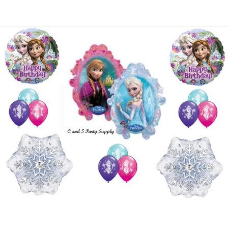 Frozen Anna & Elsa Disney Movie BIRTHDAY PARTY Balloons Decorations Supplies for $<!---->