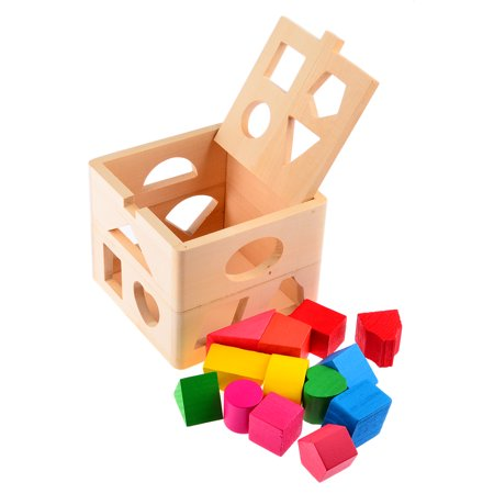 13 Holes Wooden Building Blocks Baby Kids Children Eductional Toys Cognitive and Match Learning - Kids Learning Toys