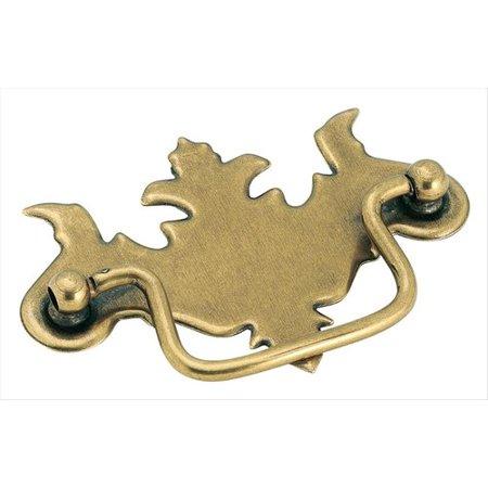 O77 Burnished Brass Natural (Allison Value 3 in (76 mm) Center-to-Center Burnished Brass Cabinet Pull)
