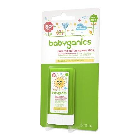 Babyganics Pure Mineral Sunscreen Stick, 50 SPF, (Best Babyganics Sunscreen For Kids)