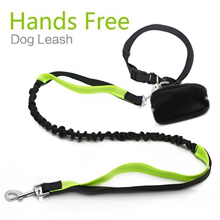 - Roadwi Bungee Dog Leash No Tangle Hands free Pet Lead with Reflective Sithching for Small Medium Large Dogs up tp 110lbs, Waist Bag Included (Leash - 4 to 6 feet, Waist - 23