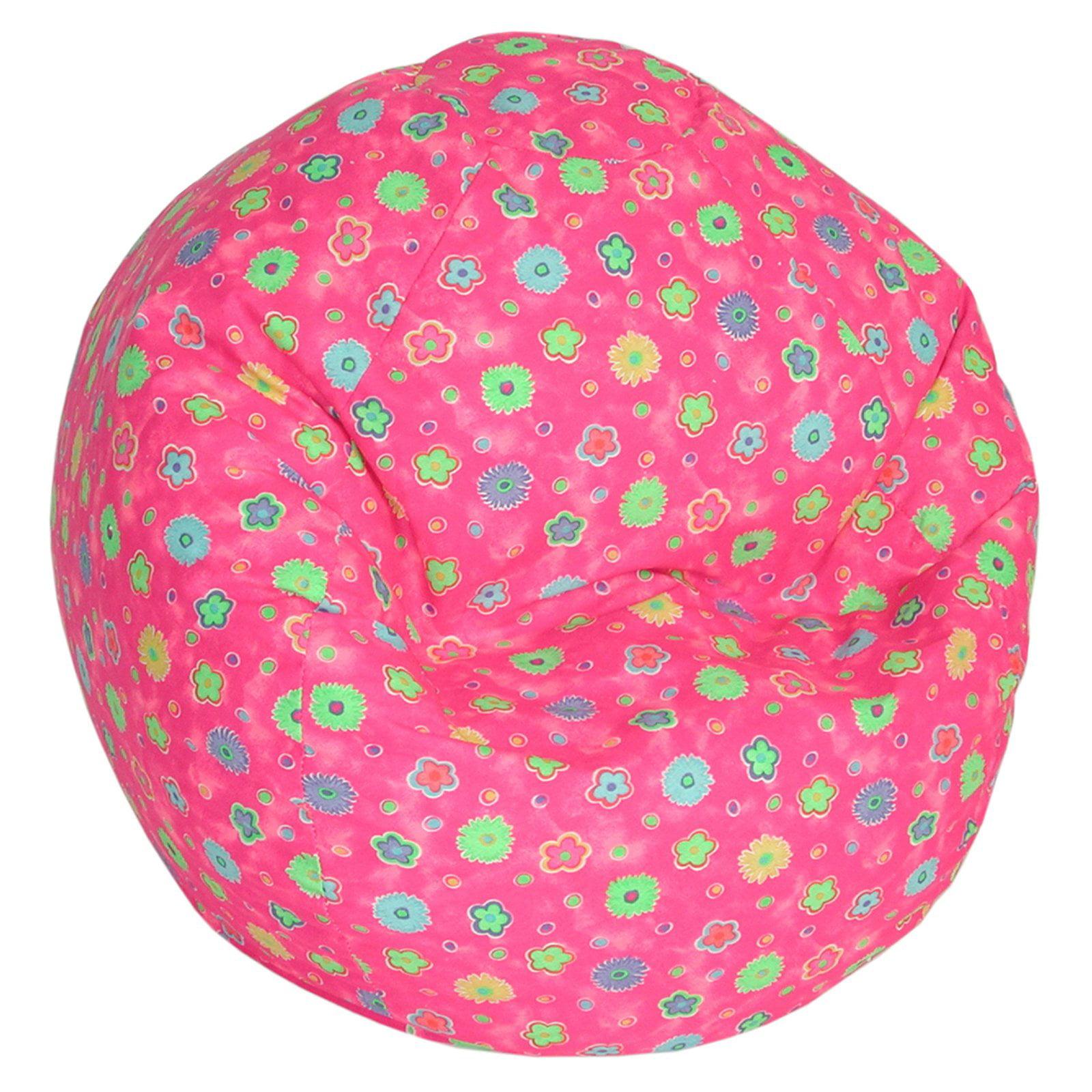 AFA, INC Bean Bag Factory Child Jr Bean Bag - Pink Flower