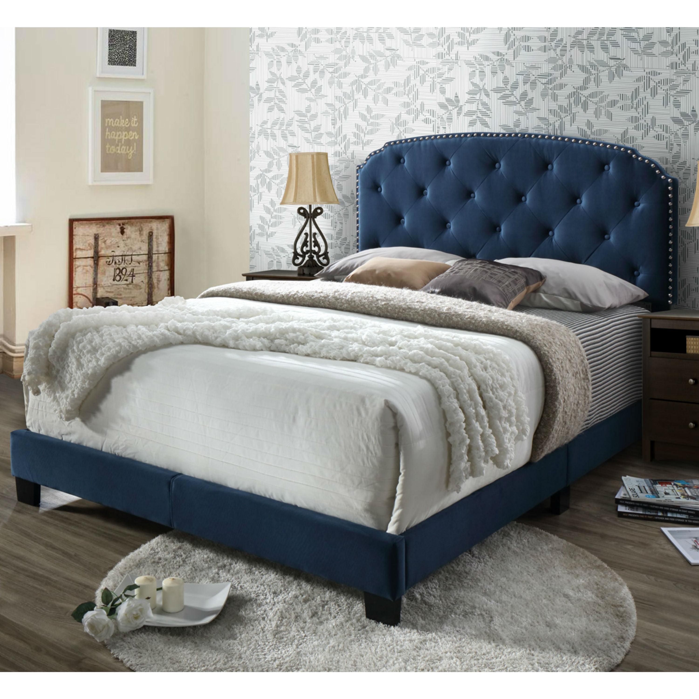 DG Casa Wembley Tufted Upholstered Panel Bed Frame with ...