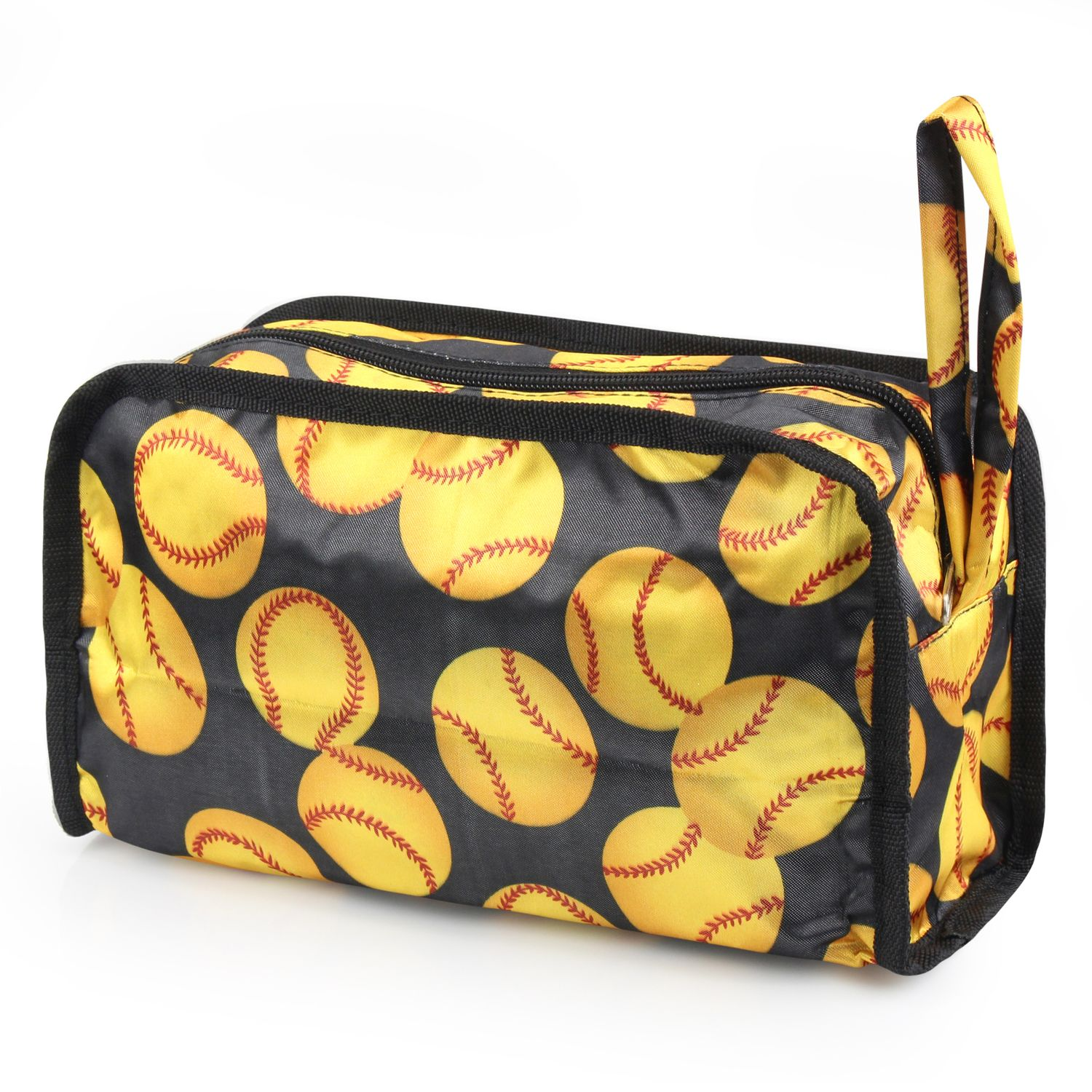 Travel Makeup Bag Pencil Case Cosmetic Storage Organizer Bag Toiletry Zip Pouch w/Wrist Handle by Zodaca