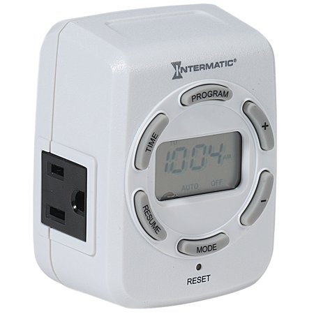 Intermatic DT122K Heavy Duty 15 Amp 120 Volt Indoor Programmable 7-Day Plug-In Digital Timer