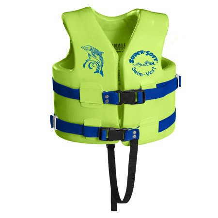 Texas Rec Supersoft Swim Life Vest Small 23-24in. - Kool Lime Green