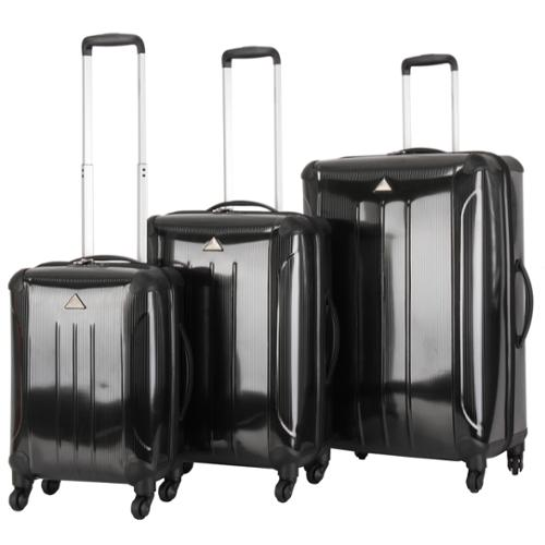 Triforce Apex 102 Collection 3-piece Hardside Spinner Luggage Set Black