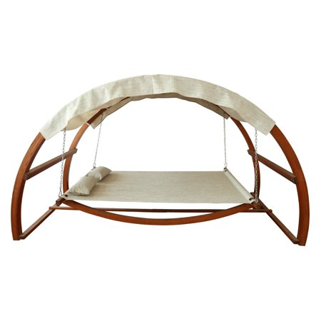 Leisure Season Swing Bed with Canopy, Medium