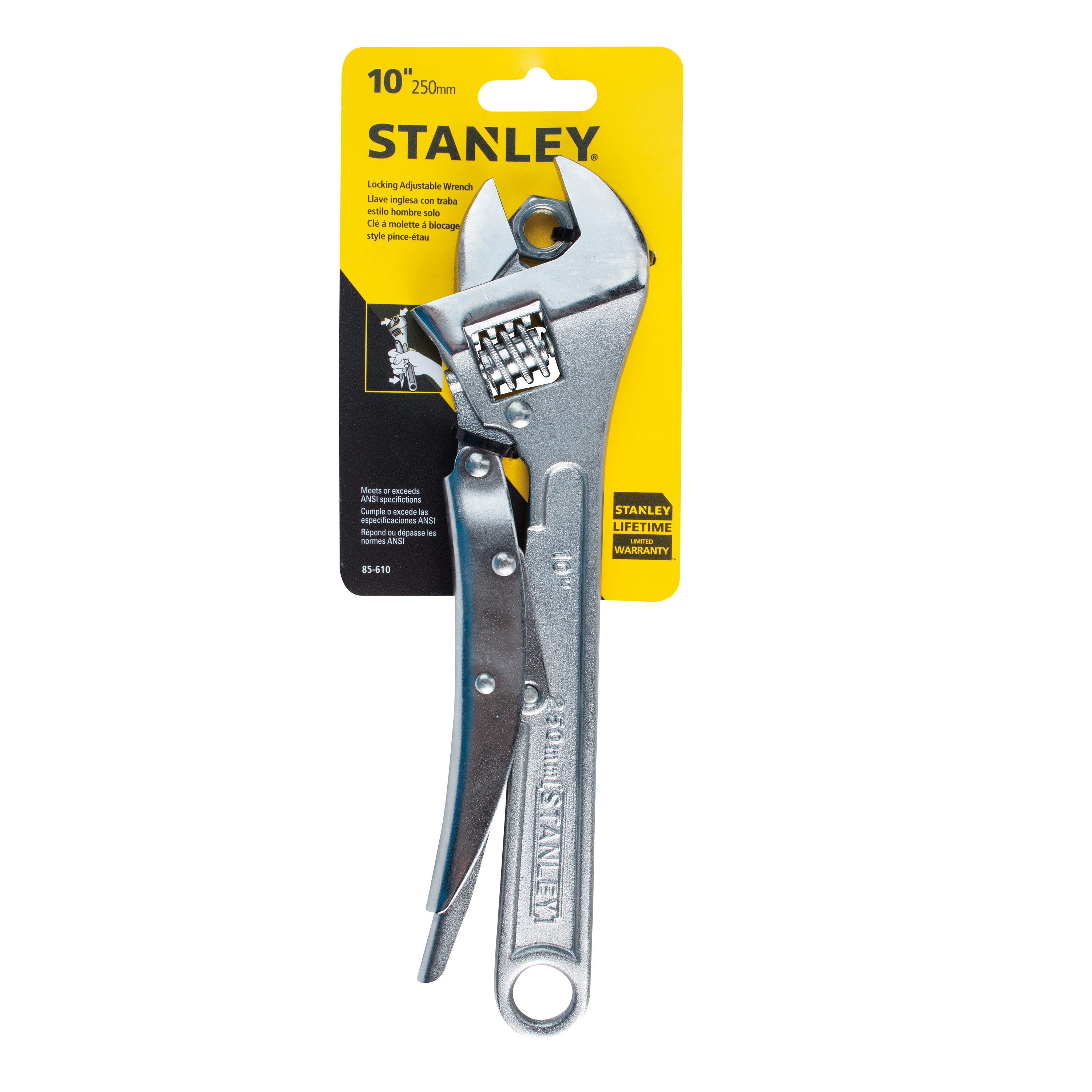 STANLEY 85-610W - 10'' Locking Adjustable Wrench
