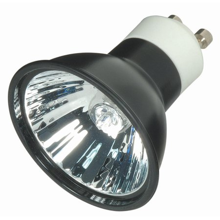50w 120v mr16 gu10 flood black back halogen light bulb. Black Bedroom Furniture Sets. Home Design Ideas