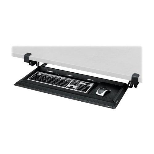 Fellowes 8038302 Keyboard Drawer w/Foam Wrist Rest 19-1/8inx19-3/4in Black