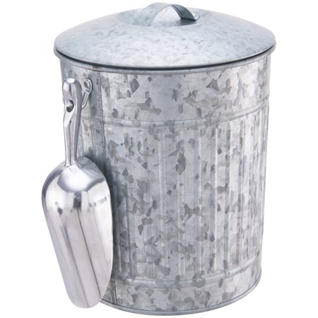 Better Homes & Gardens Galvanized Steel Ice Bucket with Scoop (Styrofoam Ice Buckets For Parties)