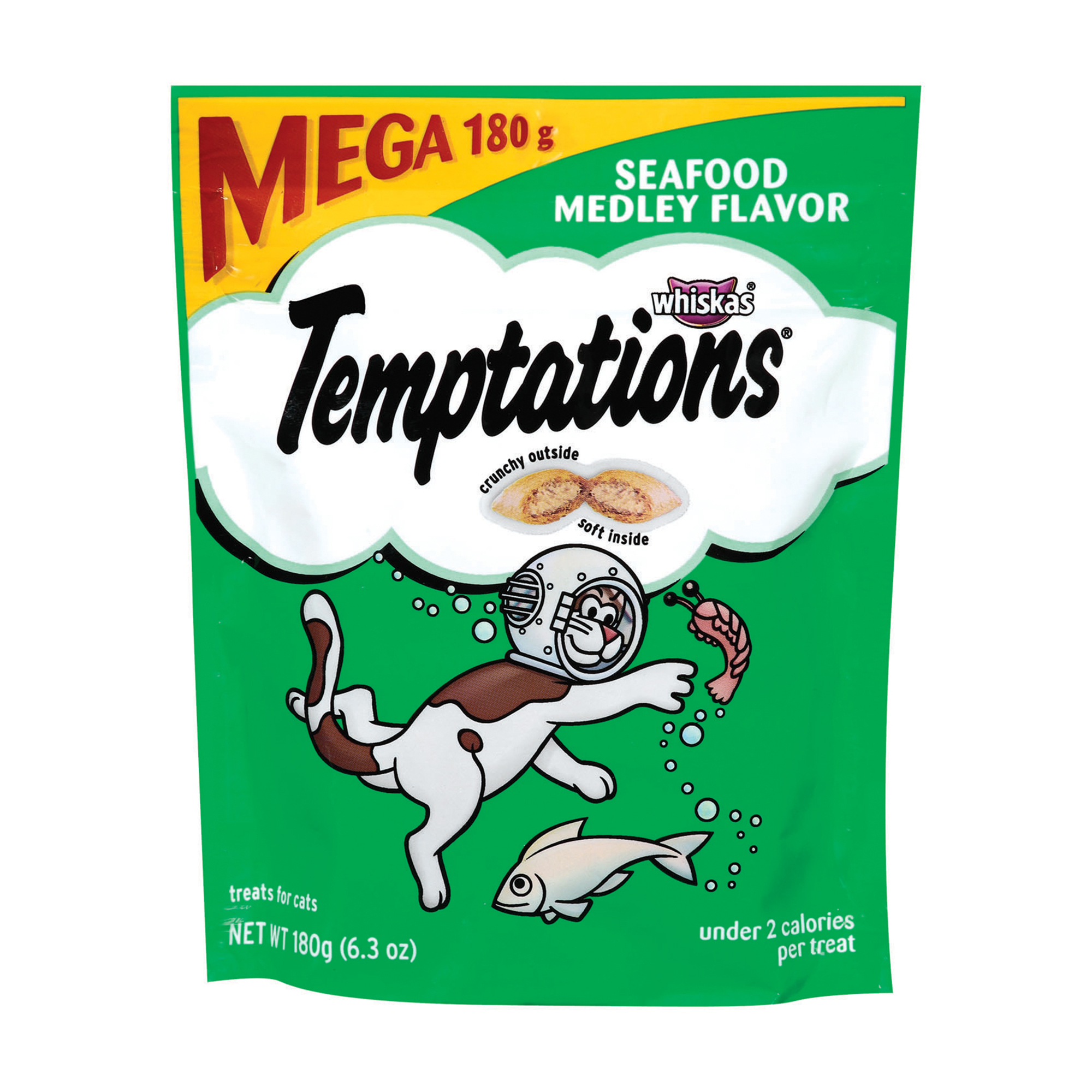 TEMPTATIONS Classic Treats for Cats Seafood Medley Flavor 6.3 Ounces