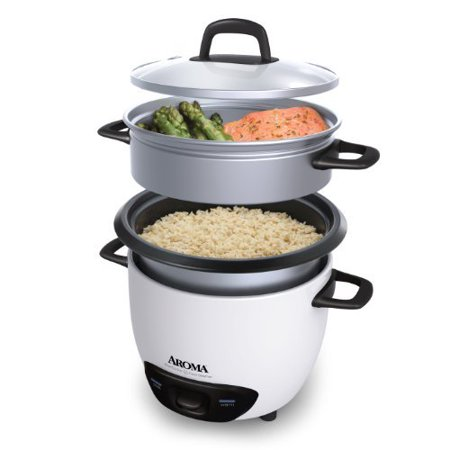 Aroma 14-Cup (Cooked)  (7-Cup UNCOOKED) Pot Style Rice Cooker and Food Steamer (Best Pot To Cook Rice)