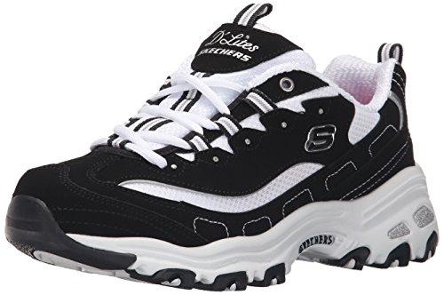 11930 BKW Black Dlites Skechers Shoes Women Sport Casual Comfort Memory Foam New 11930BKW by Skechers